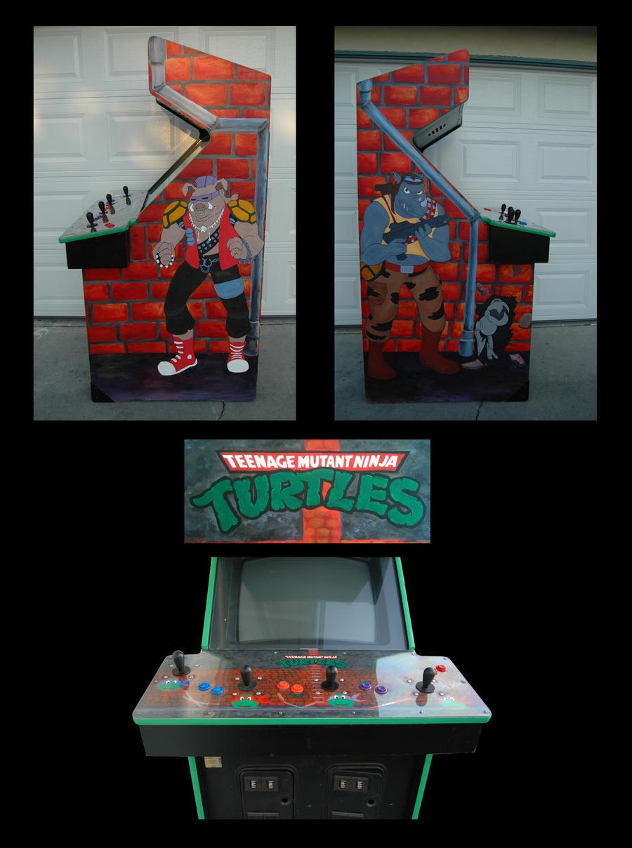 Ninja Turtles Arcade Cabinet Custom Tmnt Arcade Game By Disneyjedi1 On Deviantart