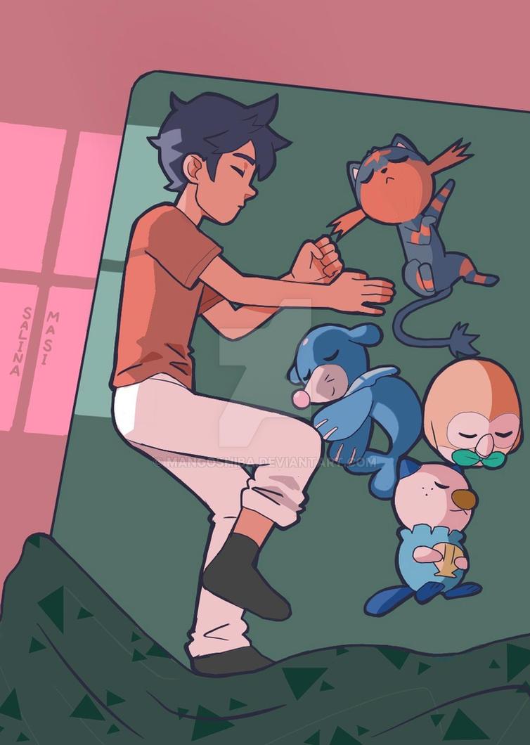 Sleeping Struggle by MangoShiba