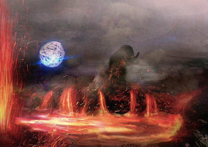 Volcano Boss Battle by Loona-Cry