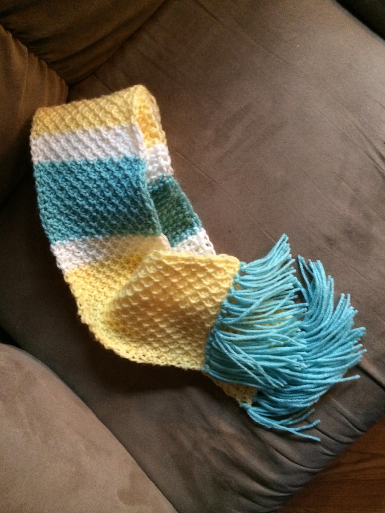 French Countryside Honeycomb Scarf w/Tassels by Crazylittleloon