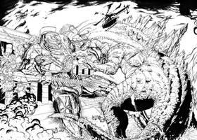 GODZILLA VS GIPSY DANGEROUS by RYU-BAN