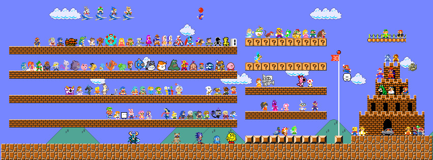 Mario 30th Anniversary Facebook Cover thing WIP by GGod on ...