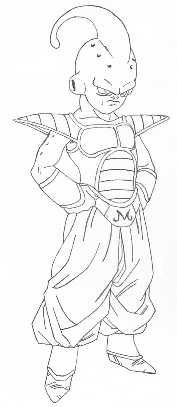 dragonball z buu coloring pages - photo#7