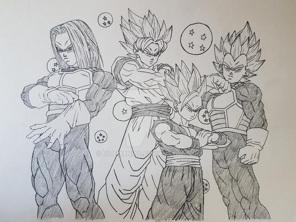 Super saiyan team by hidemaniac