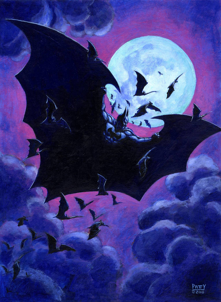 BATMAN NIGHT FLIGHT by Sean-Patty