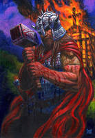 THORKIL THE VIKING Painting