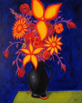 FLOWERS 2 Original Contemporary Art PATTY