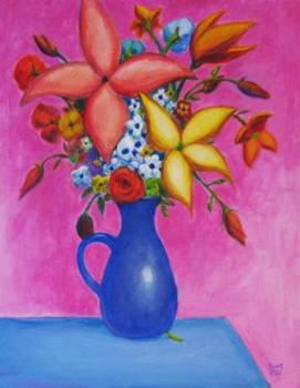 FLOWERS 4 Original Contemporary Art PATTY