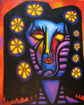 FLOWER GIRL 1 Original Contemporary Art PATTY