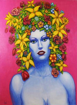 FLOWER GIRL 2 Original Contemporary Art PATTY