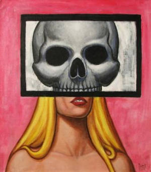 DEAD GIRL 3 Original Contemporary Art PATTY