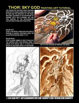 THOR: SKY GOD Patreon Fantasy Art Tutorial