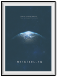Interstellar Minimal Poster