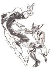 Wolverine vs Guardian by crozonia