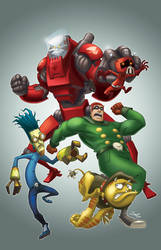 League of Super Evil Comic by crozonia