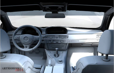 BMW m3 e92 Interior  Wip Test render by Artsoni3D