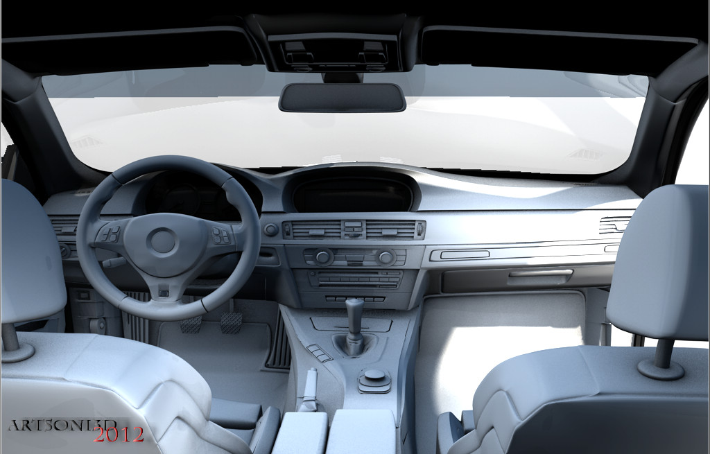 BMW M3 E92 Interior Wip Test Render By Artsoni3D ...
