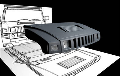 Hummer h2 part 2 WiP by Artsoni3D