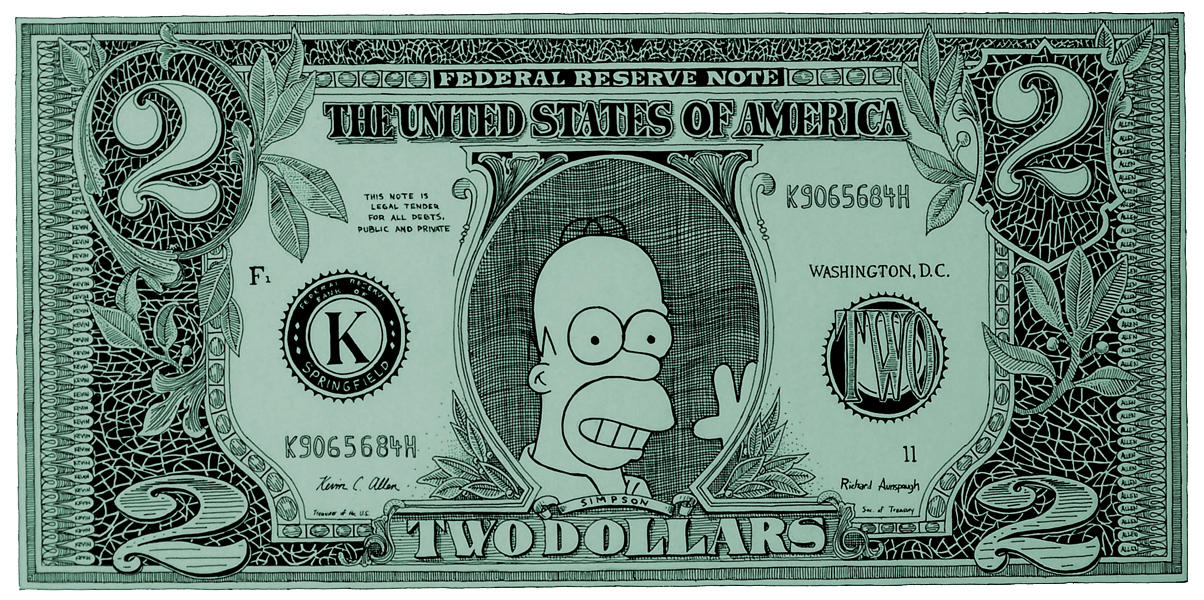 Homer dollar bill y'all by khaos84