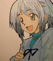 Blue Haired by xTsukiNoKurokage