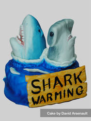 Shark Warming Cake by DavidArsenault