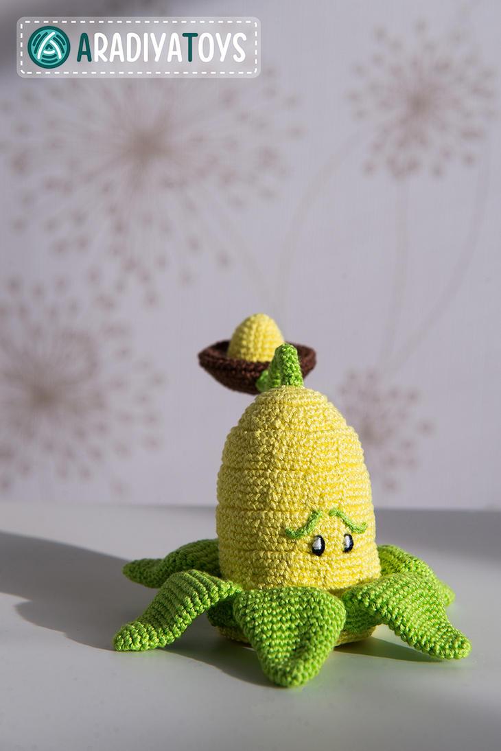 Amigurumi Plants Vs Zombies : Kernel-pult from Plants vs Zombies amigurumi toy by ...