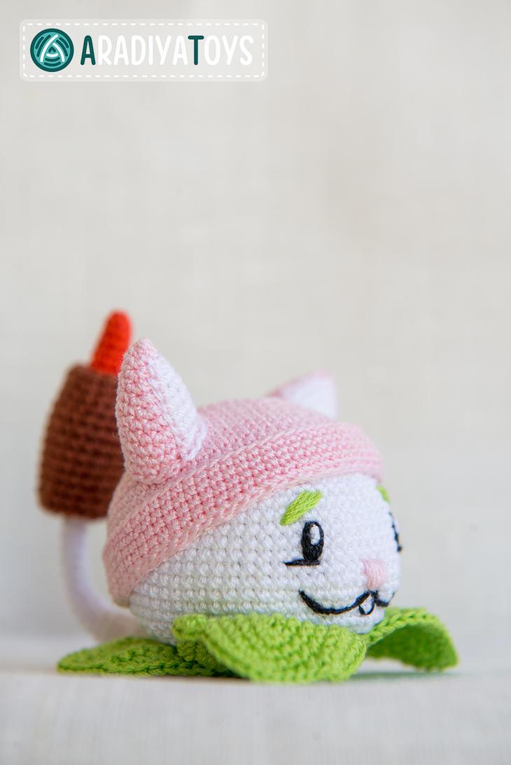 Cattail from Plants vs Zombies, crochet toy by Aradiya9 ...