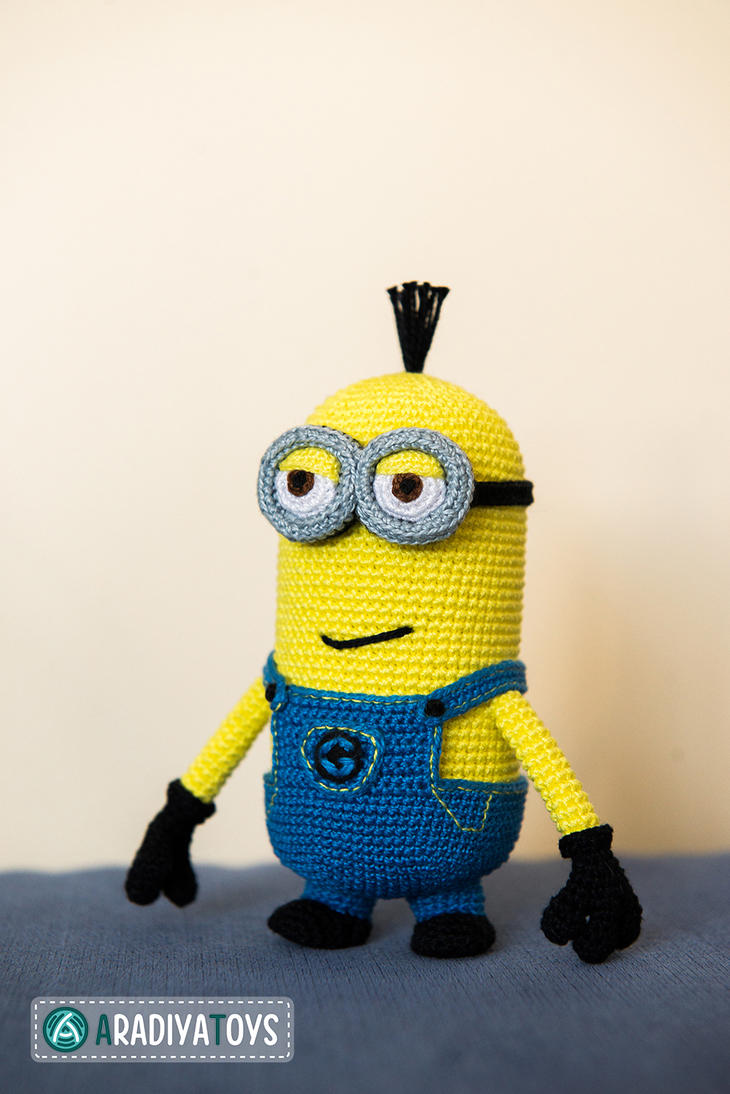 Minion Tim from Despicable Me, amigurumi toy by ...