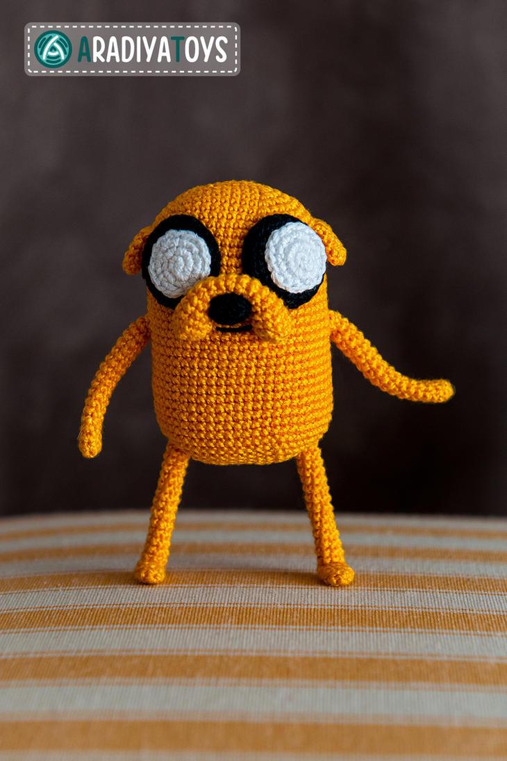 Jake from 'Adventure Time', crochet toy by AradiyaToys