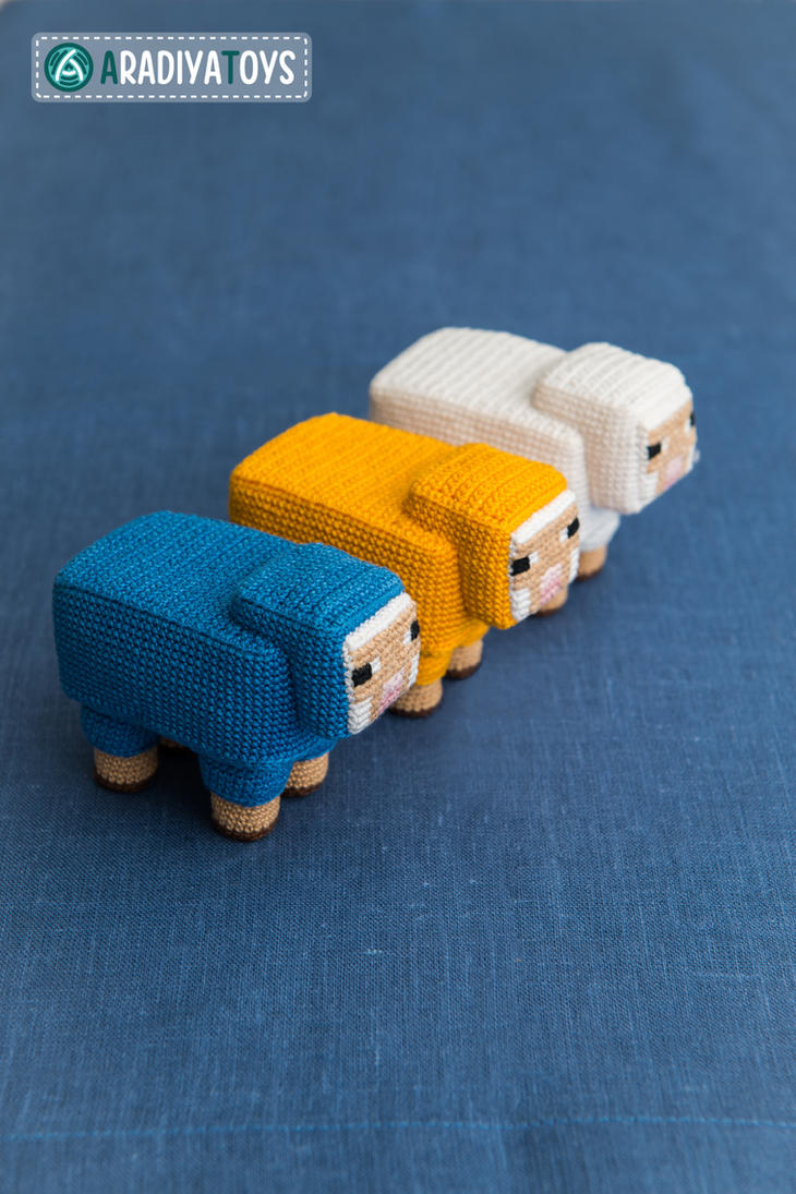 Orca Amigurumi Free Pattern : Sheep from Minecraft, amigurumi toy by AradiyaToys on ...