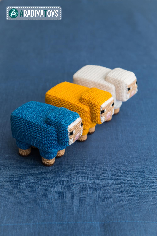 Sheep from Minecraft, amigurumi toy by AradiyaToys on ...