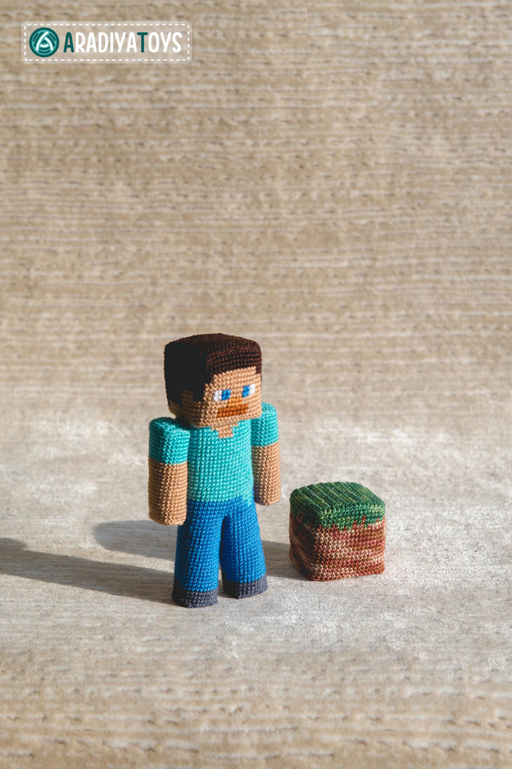 Amigurumi Free Pattern Owl : Steve from Minecraft, amigurumi toy by AradiyaToys on ...