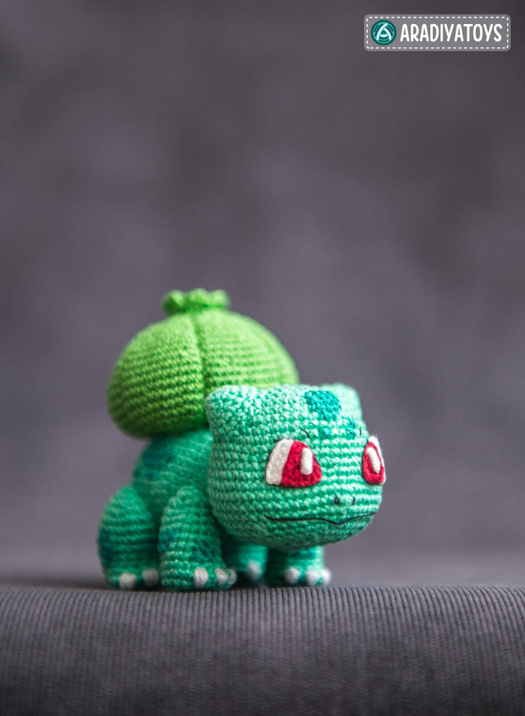 Bulbasaur from 'Pokemon', crochet pattern by AradiyaToys