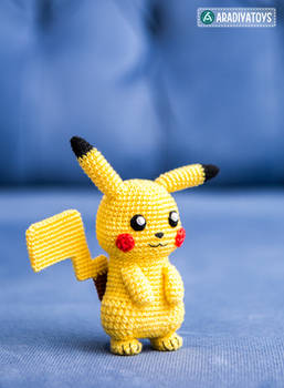 Pikachu from 'Pokemon', amigurumi pattern