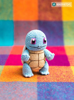Squirtle from 'Pokemon', amigurumi pattern