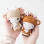 Two Mini Annie the Deer cuties! by AradiyaToys