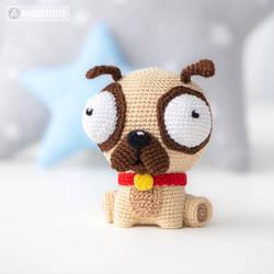 miniature pug - crochet amigurumi pattern | 250x250