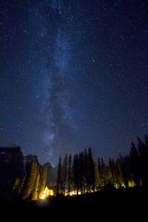 Milky Way over Moraine by StevenDavisPhoto