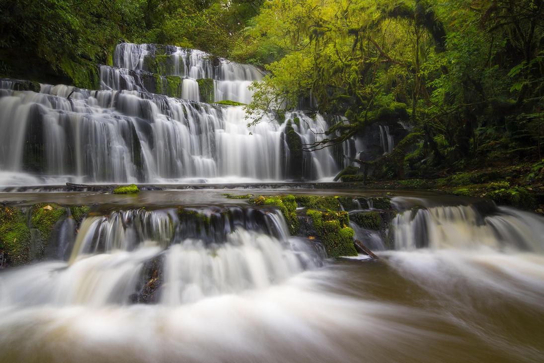 Purakaunui Falls by StevenDavisPhoto