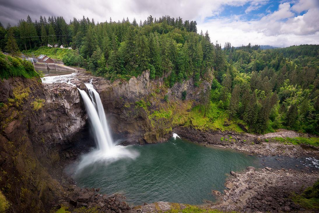 Snoqualmie Falls by StevenDavisPhoto