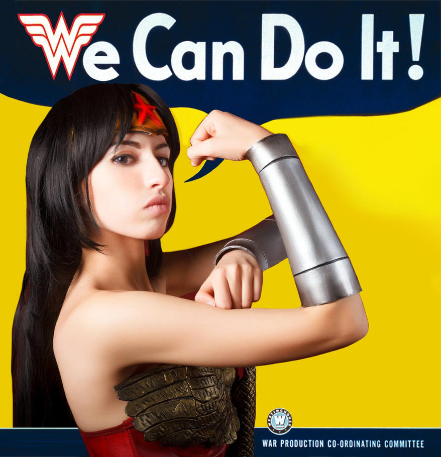 Wonder Woman Cosplay We Can Do It! by pink-hika
