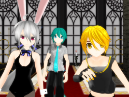 MMD Everybody [PD Mikuo PD Nero PD Bunny Haku DL] by flopp18