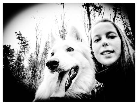 Me and my lovely dog in the forest II
