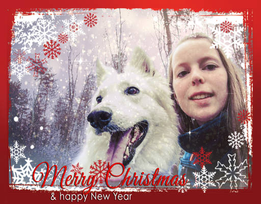 Christmascard Kaly and me