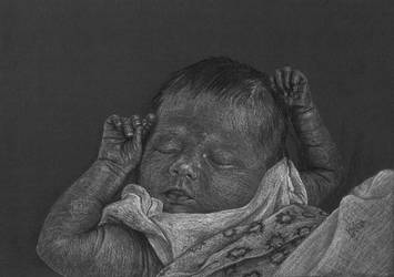 Sleeping baby by Jelena131