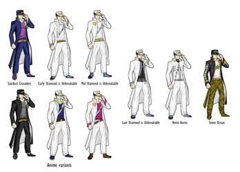 Jotaro Kujo Design Evolution by Balathehedgehog9