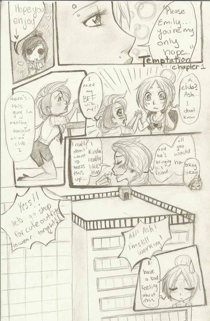 Temptation Chapter 1: Page 1 by PigletPrincess