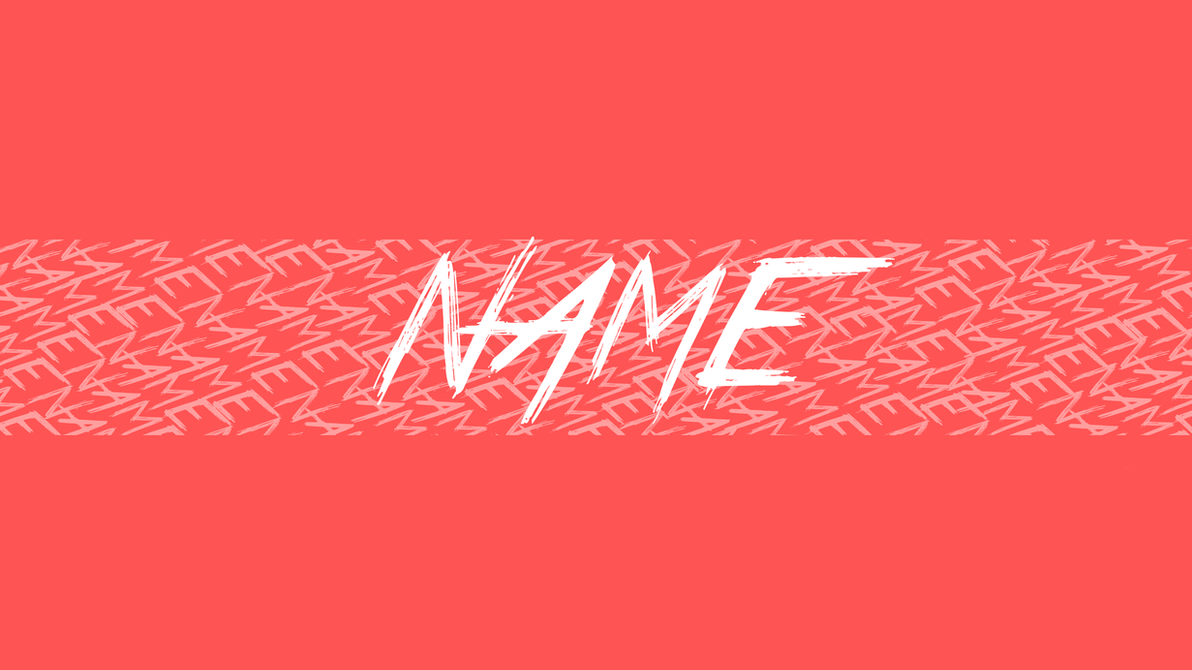 youtube banner name spam red white ut by untalentedartistyt on