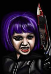 Aela as Hit Girl by Knightmarish