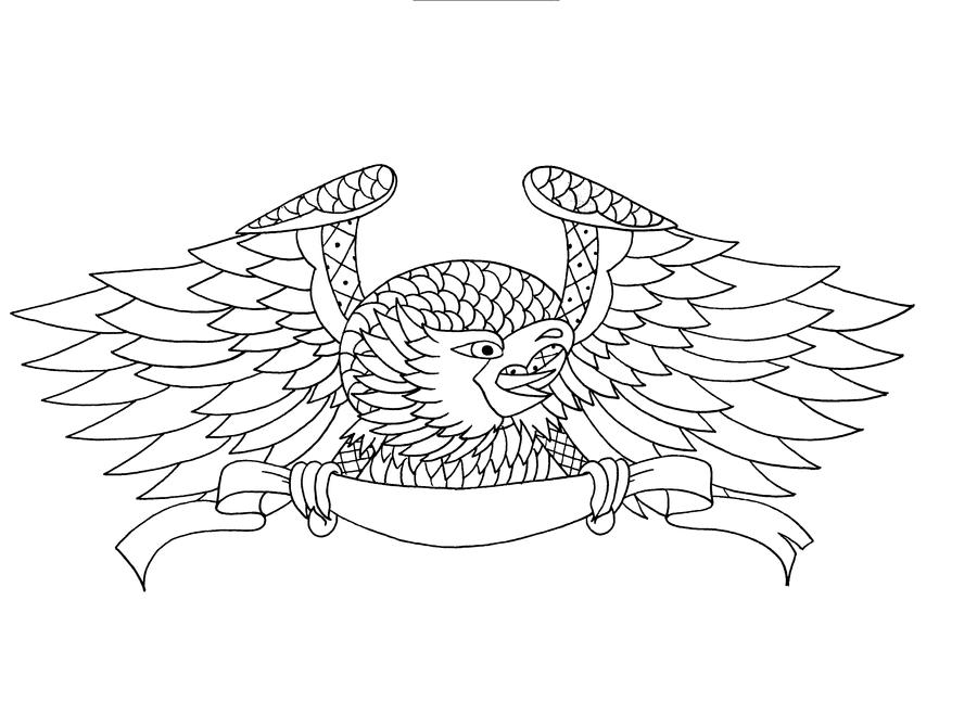Eagle Tattoo Line Drawing : Eagle tattoo line drawing